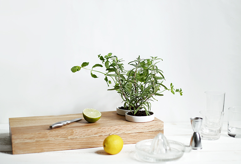 DIY Herb Planter Cutting Board @themerrythought