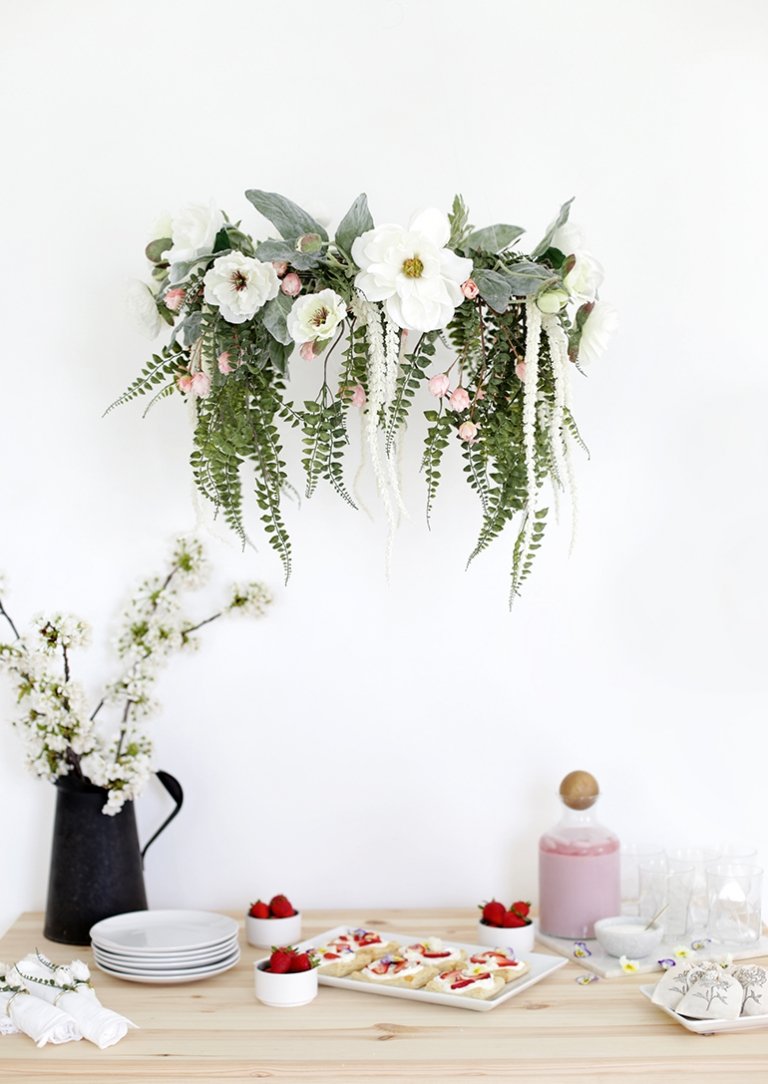 Diy floral chandelier the merrythought diy floral chandelier themerrythought aloadofball Image collections