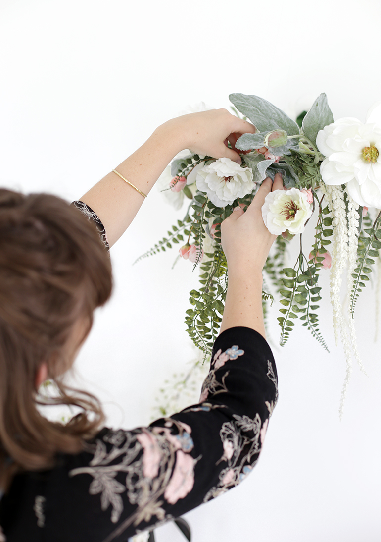 DIY Floral Chandelier @themerrythought