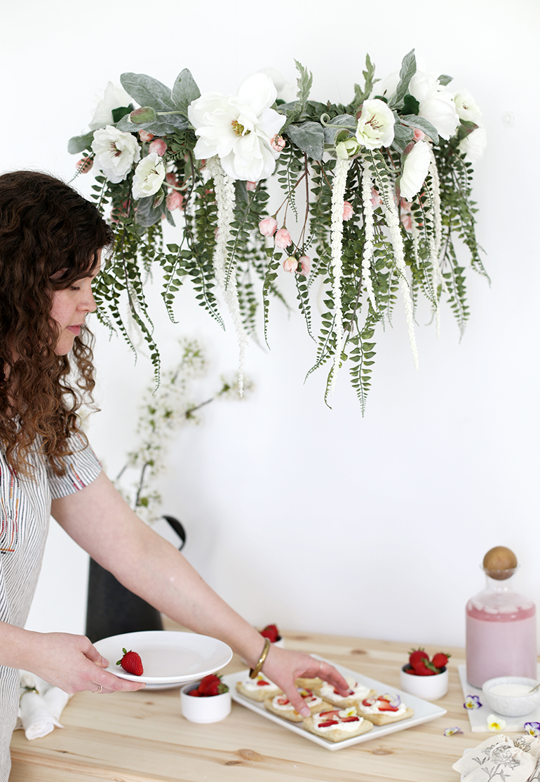 DIY Floral Chandelier - The Merrythought