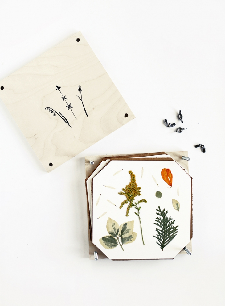 DIY Flower Press @themerrythought