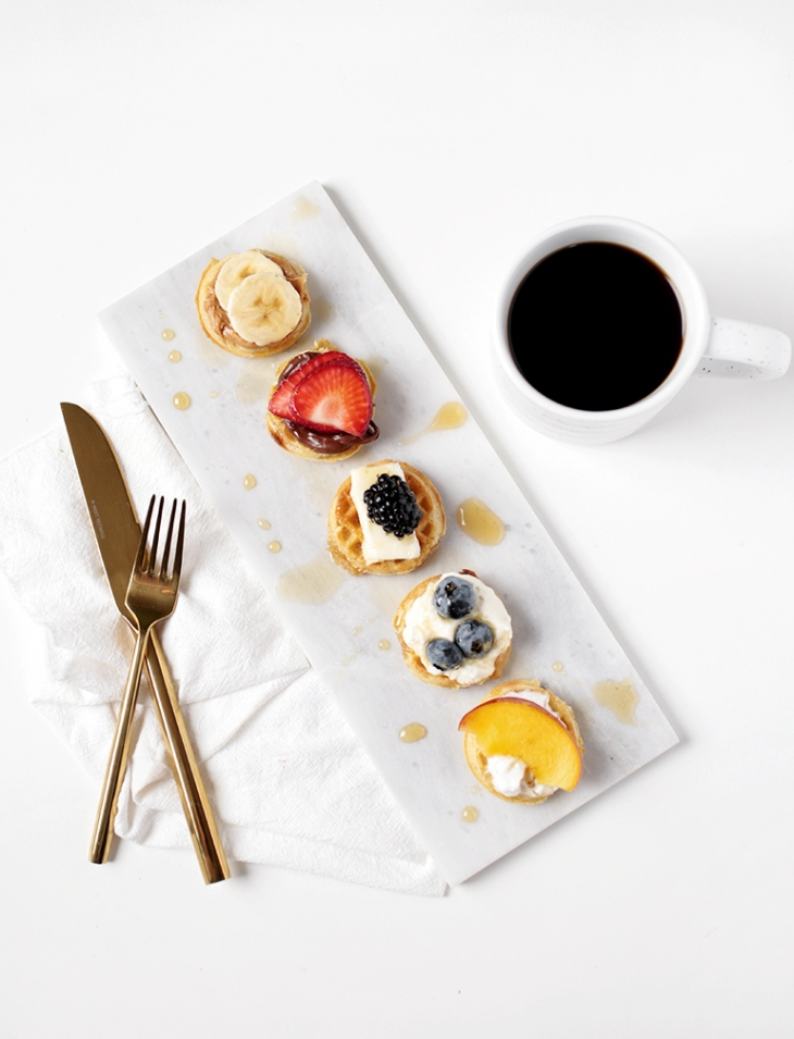 Mini Waffle Bites @themerrythought