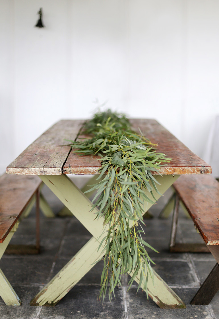 Diy Greenery Table Garland The Merrythought