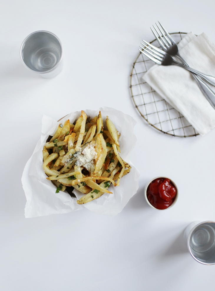 Garlic Cilantro Fries Recipe @themerrythought