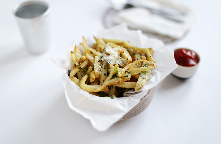 Garlic Cilantro Fries Recipe @themerrythought