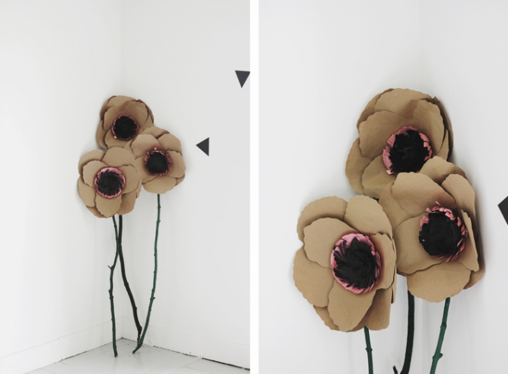 DIY Giant Kraft Paper Flowers @themerrythought