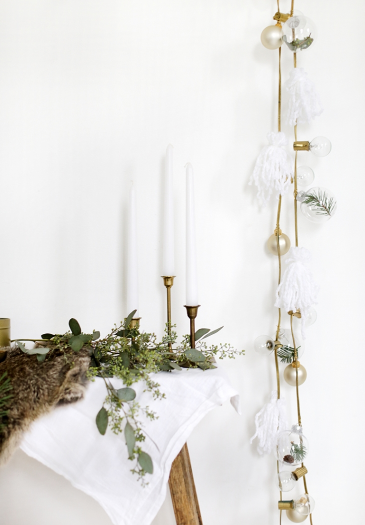 DIY String Lights Garland @themerrythought