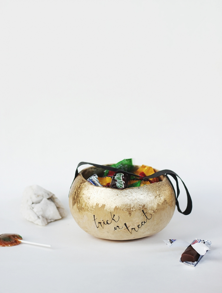 DIY Gourd Halloween Basket @themerrythought