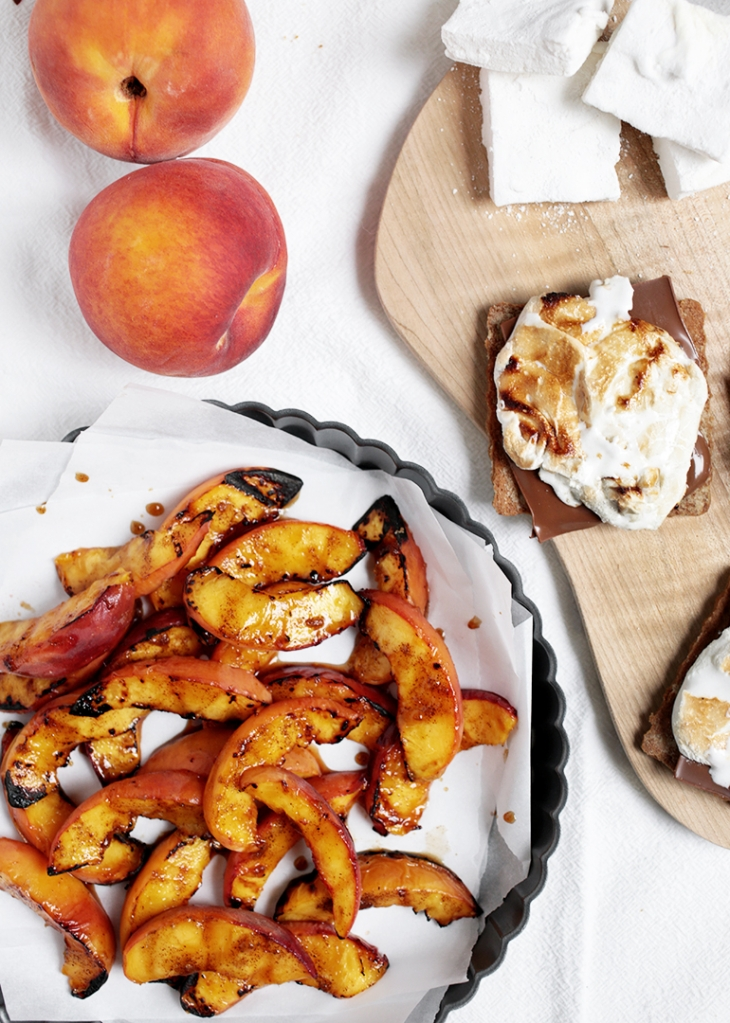 Grilled Peach Smores @themerrythought