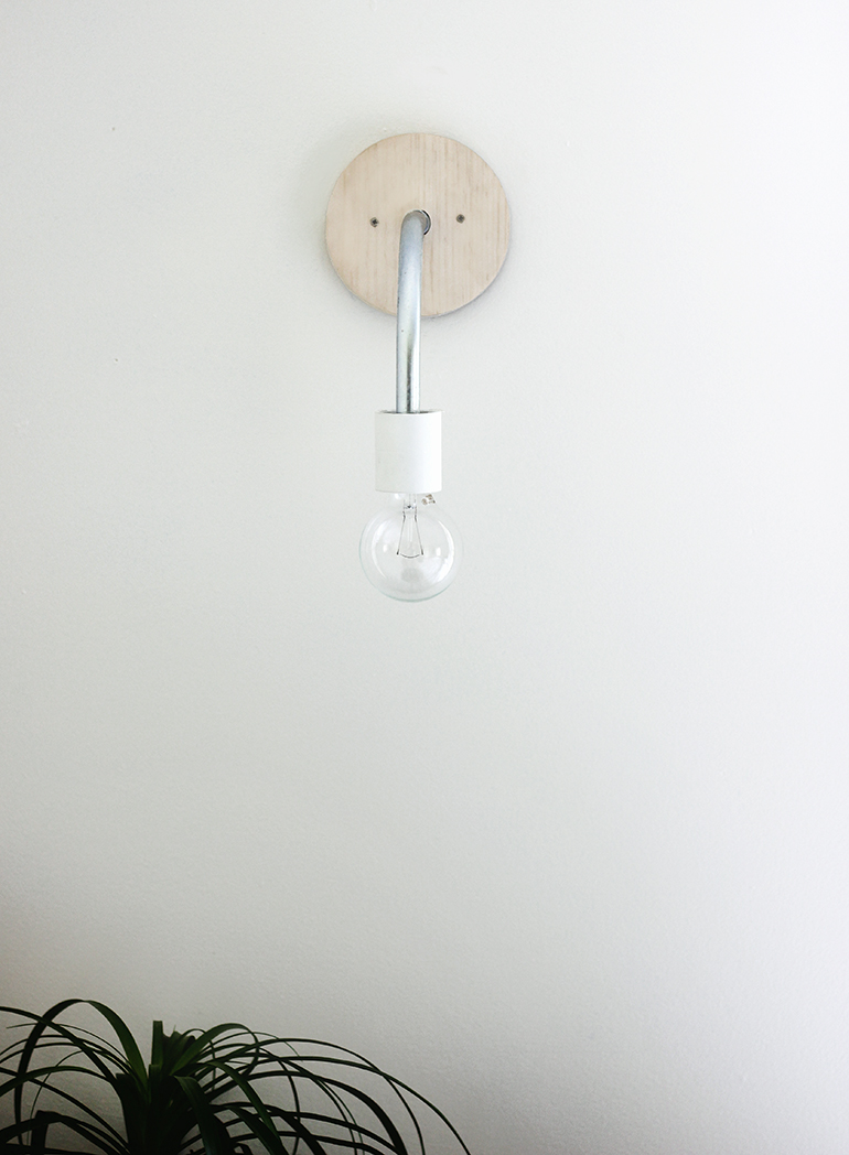 Diy hanging wall light the merrythought for Diy wall lighting