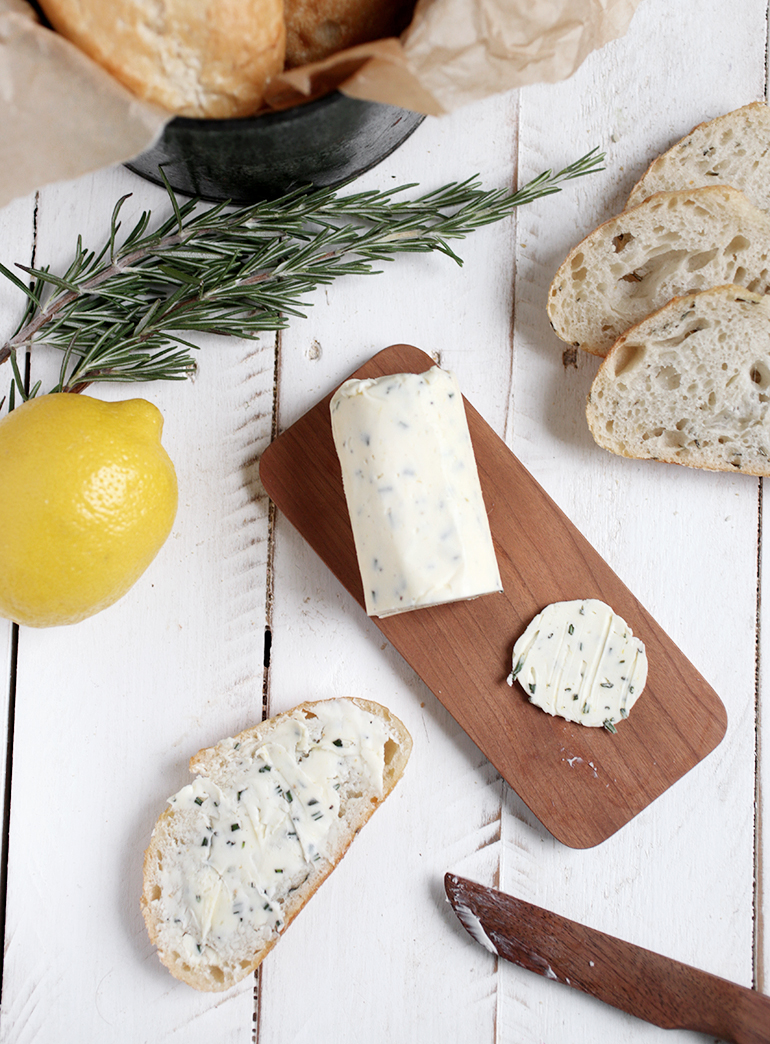 Rosemary Lemon Herb Compound Butter @themerrythought