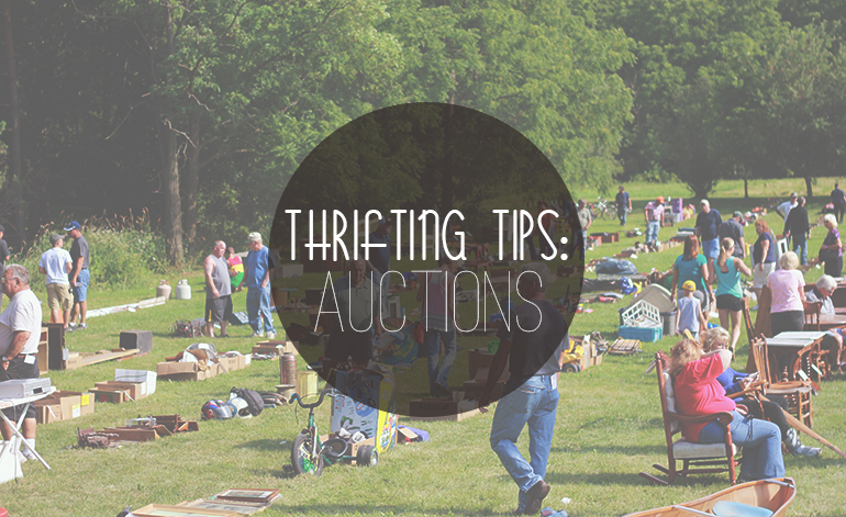 Thrift tips auctions the merrythought for Auction advice