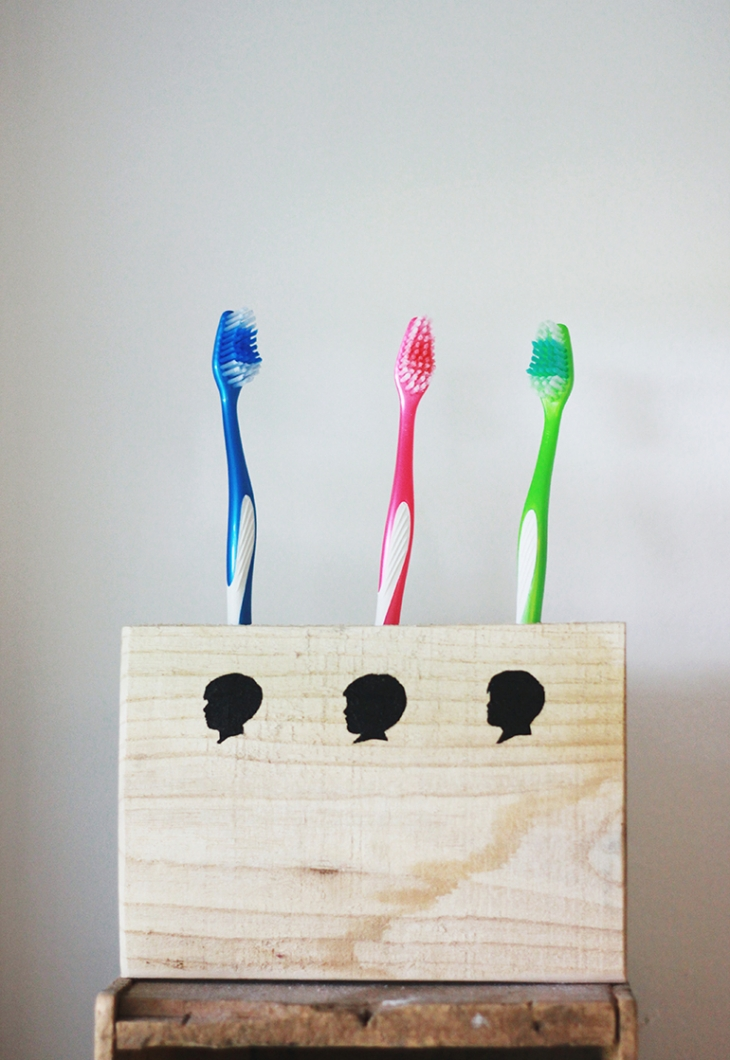 DIY Wooden Silhouette Toothbrush Holder | The Merrythought