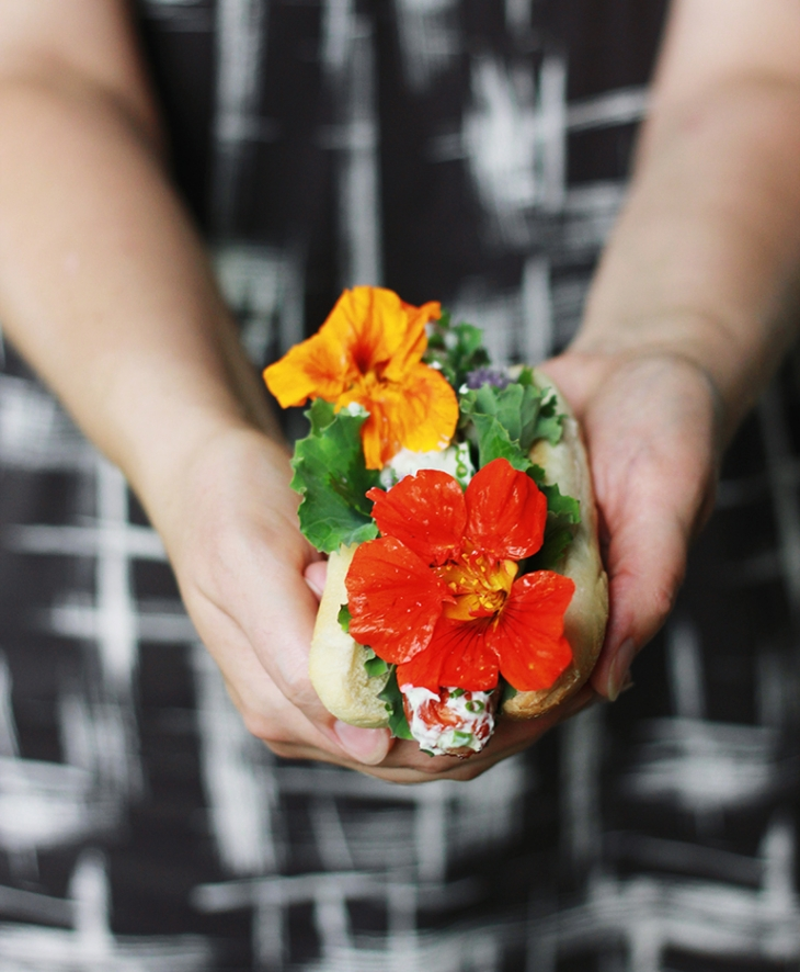 Flower Power Herb Dog - 10 Ways to Top Hot Dogs - The Merrythought