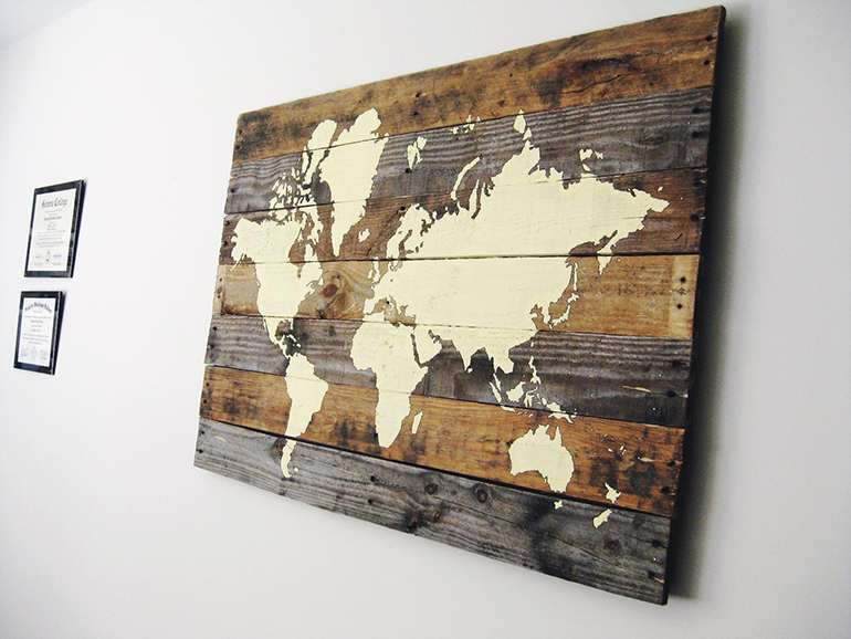 Pallet board world map the merrythought pallet world map the merrythought gumiabroncs Choice Image