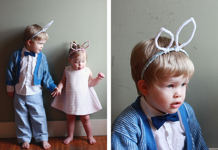 Vintage Fabric Covered Bunny Ears // The Merrythought