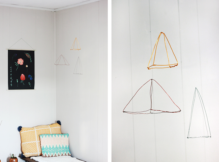 diy wire triangles the merrythought. Black Bedroom Furniture Sets. Home Design Ideas