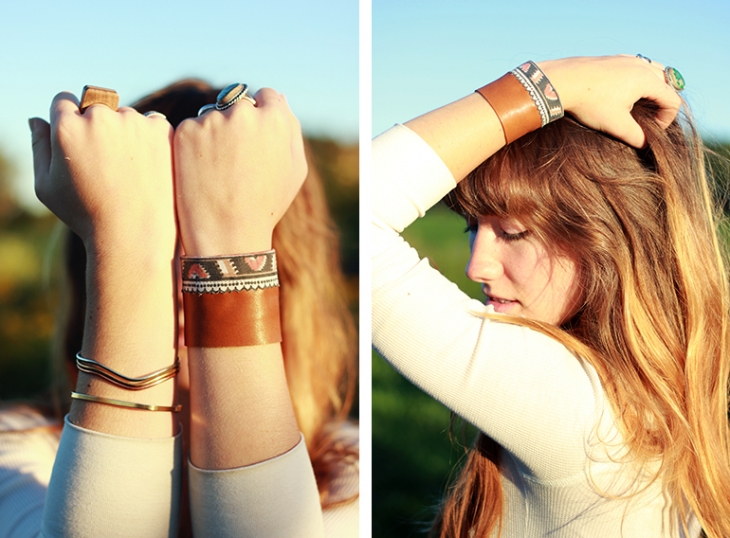 DIY Leather Cuff | The Merrythought