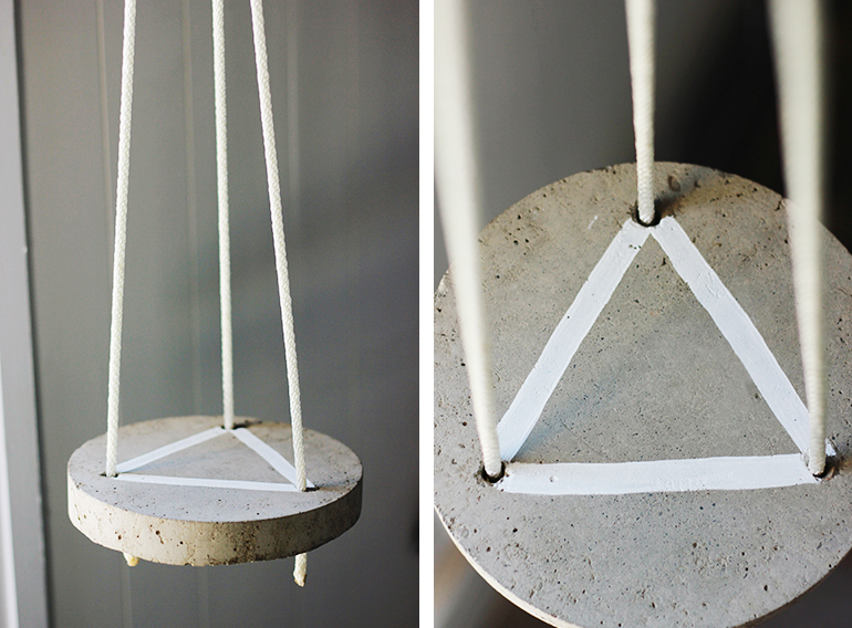 DIY Round Hanging Cement Table | The Merrythought