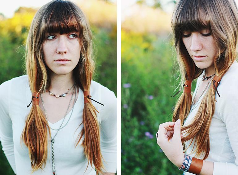DIY Leather Ponytail Wrap The Merrythought - Diy ponytail wrap