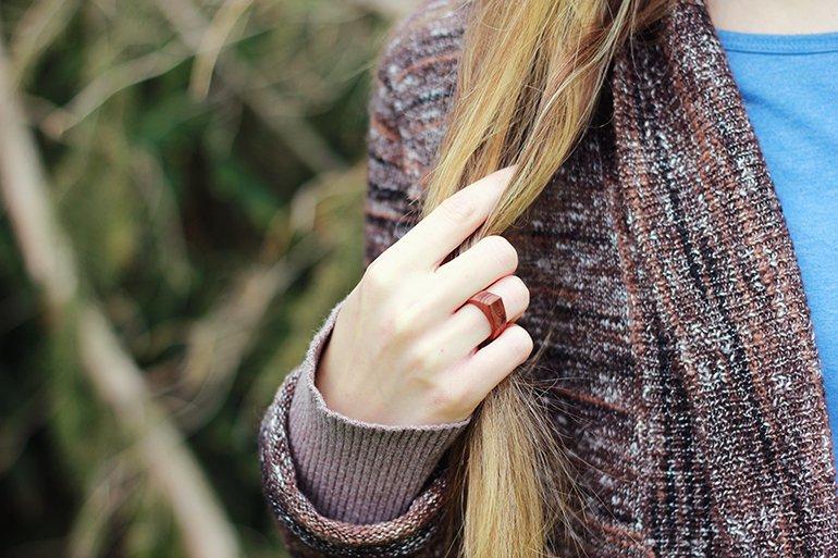 Simple Wooden Rings.