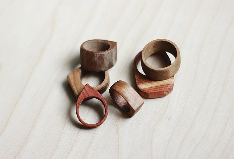 simple wooden rings the merrythought