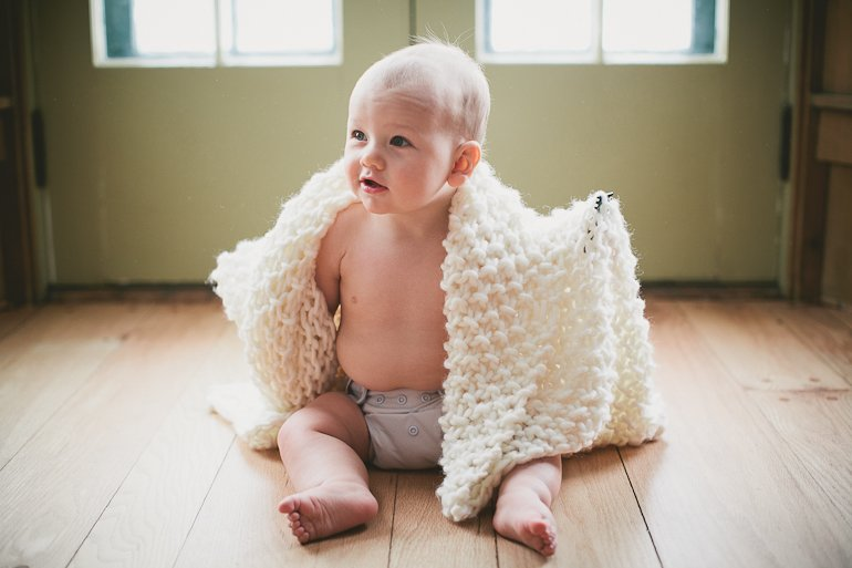 Knitting Pattern For Chunky Baby Blanket : Easy Chunky Knit Baby Blanket   The Merrythought