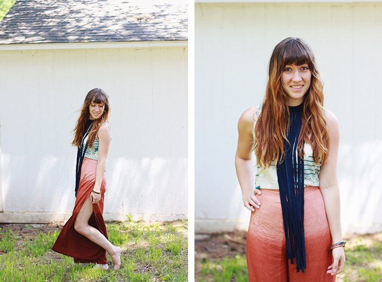DIY Fringe Necklace | The Merrythought