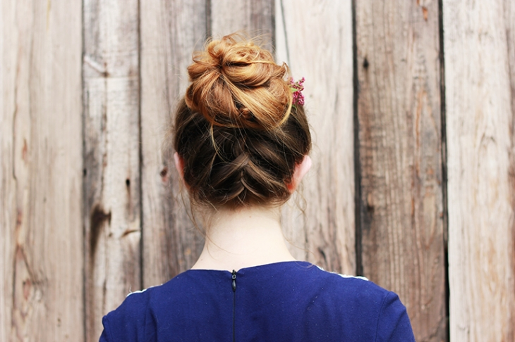 Upside Down French Braid Bun | The Merrythought