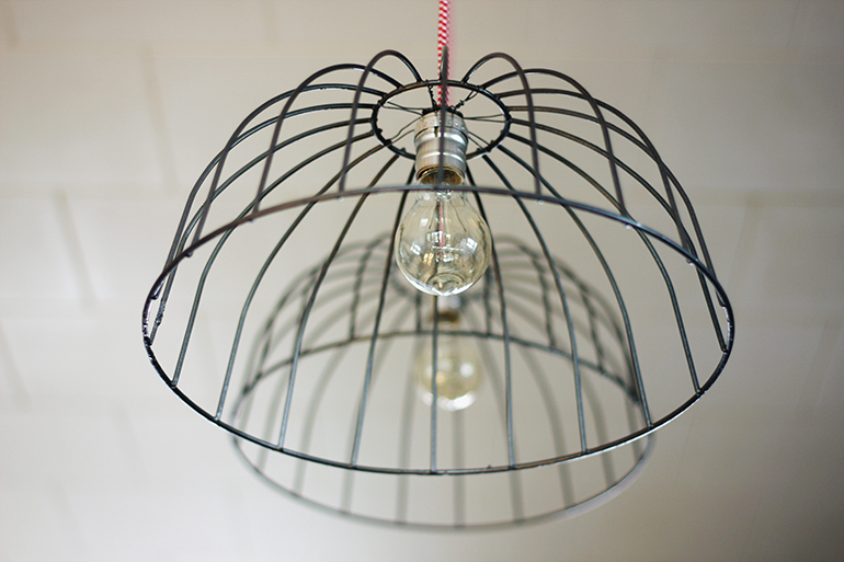 DIY Wire Basket Lights - The Merrythought