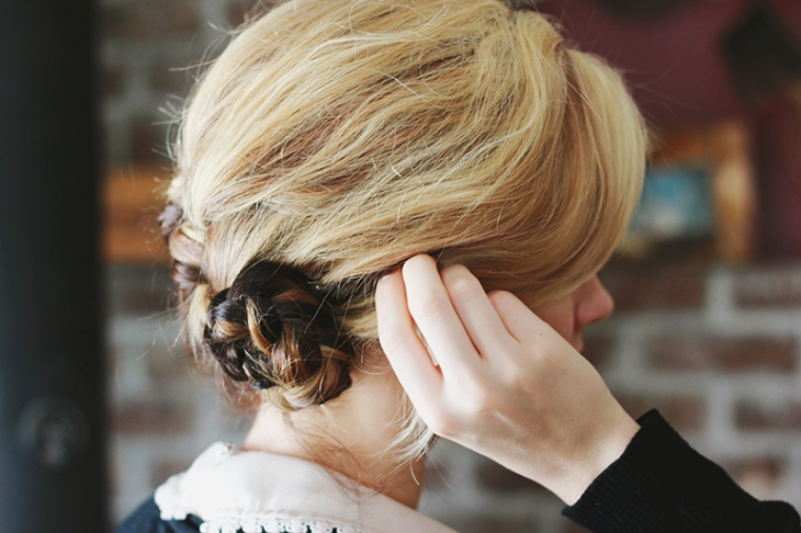 French Braid Bun Tutorial // The Merrythought