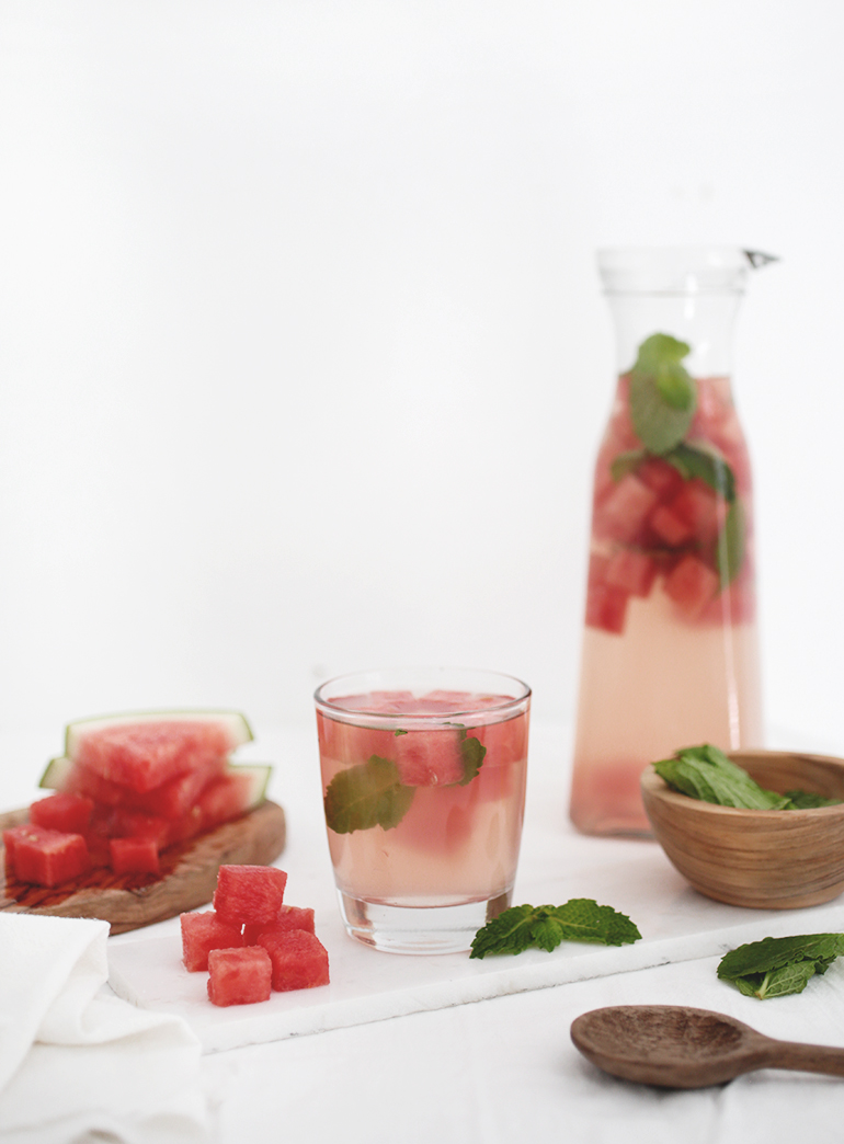 Watermelon Mint Infused Water @themerrythought