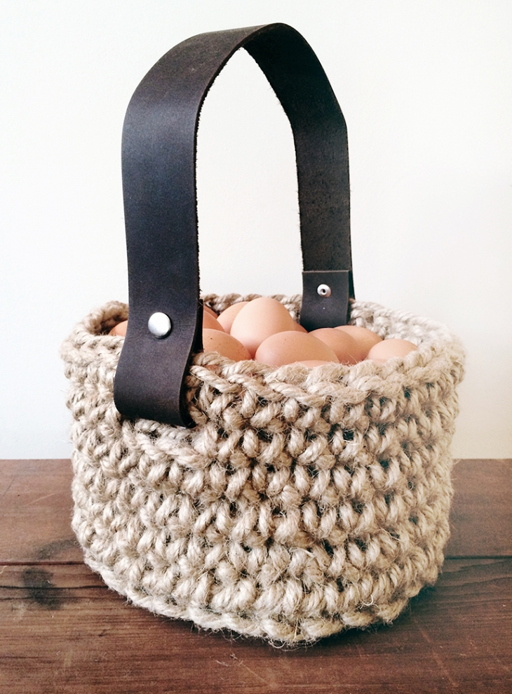 DIY Jute Easter Basket @themerrythought