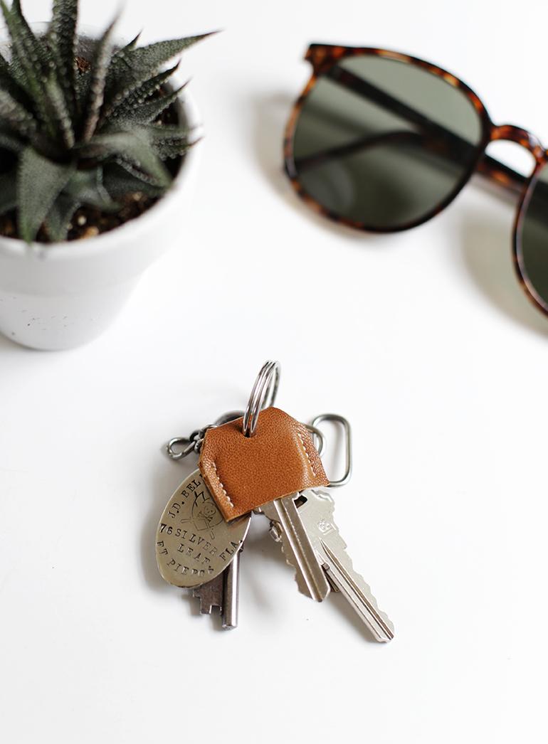 Key cuir bricolagethemerrythought de couverture