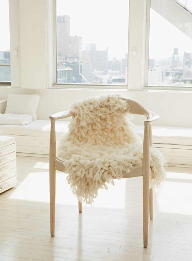 Knitting Without Needles : The great american pouf tour merrythought