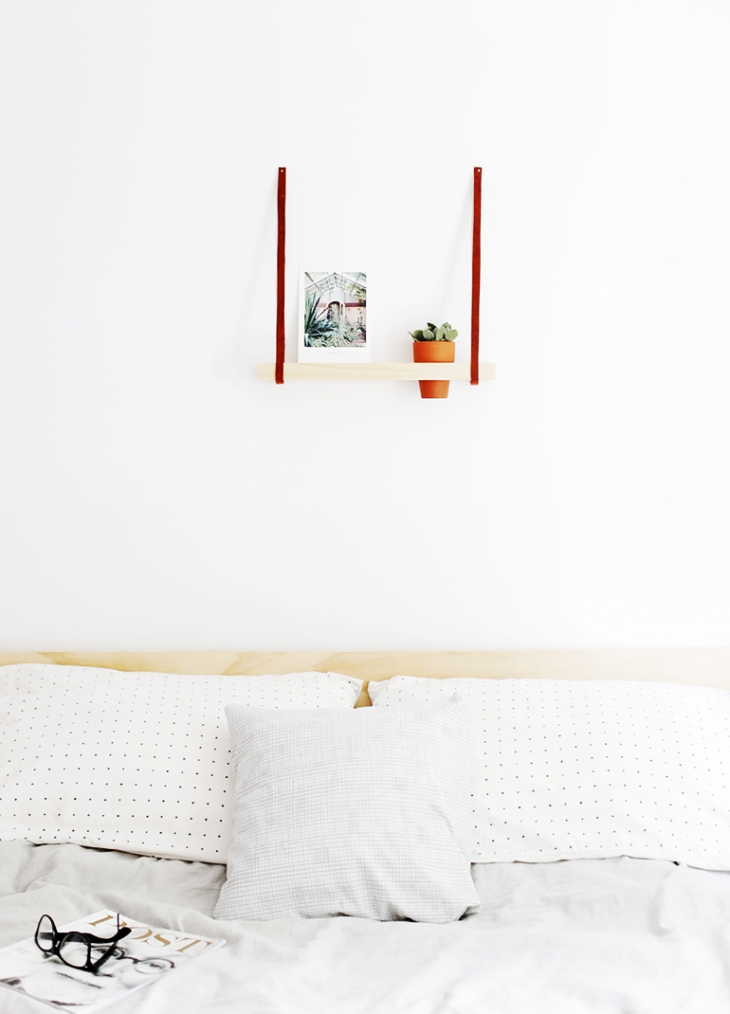 DIY Hanging Photo Shelf @themerrythought for @kodakmomentpins