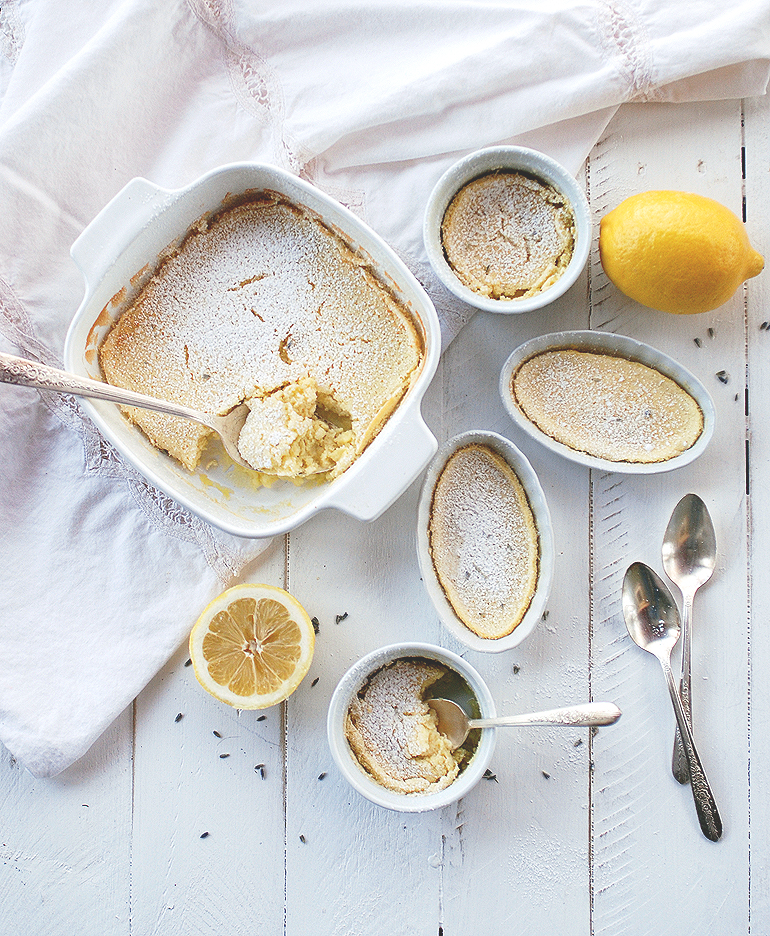 Lavender Lemon Pudding Cakes @themerrythought