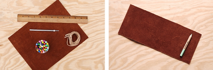 Leather Pencil Case Step 1