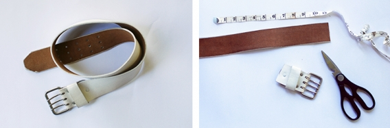 DIY Leather Belt Drawer Pulls @themerrythought