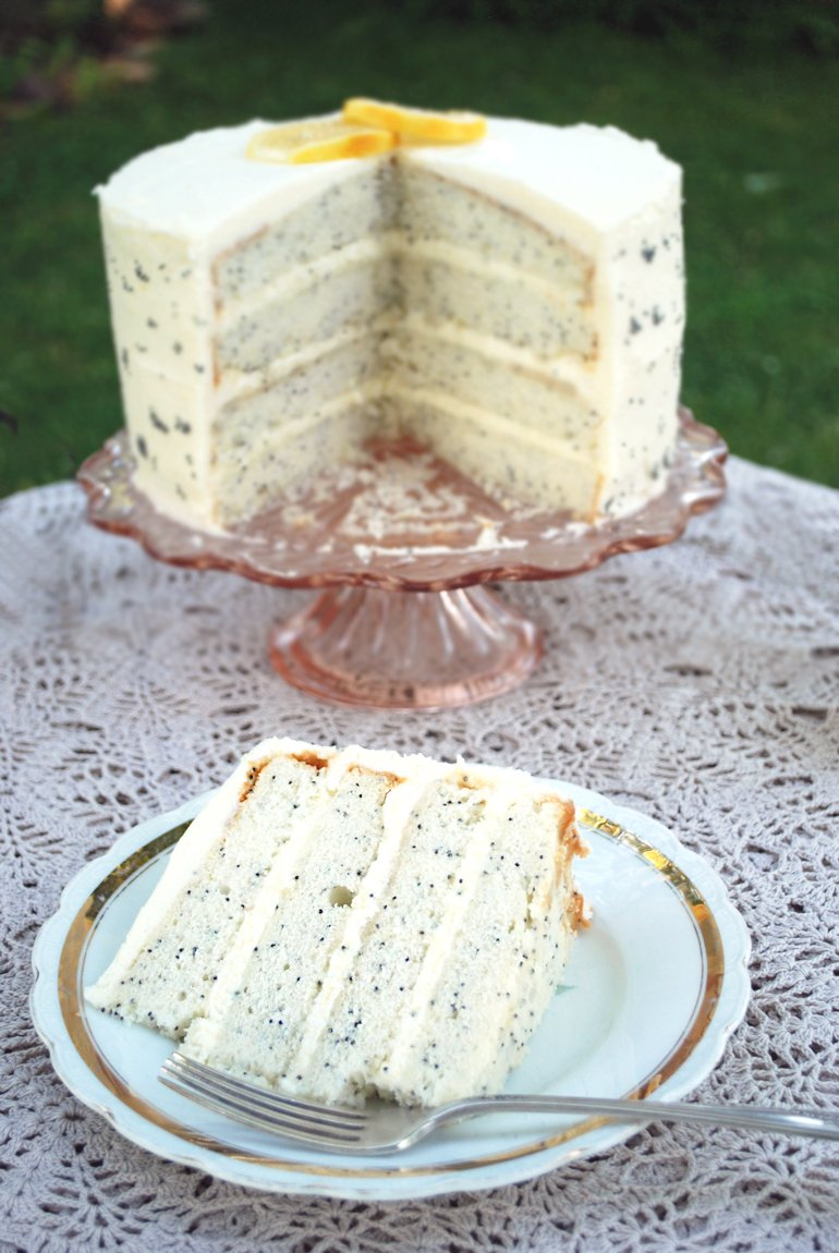Poppy Seed Cake, Mascarpone Frosting, Strawberries Recipes ...