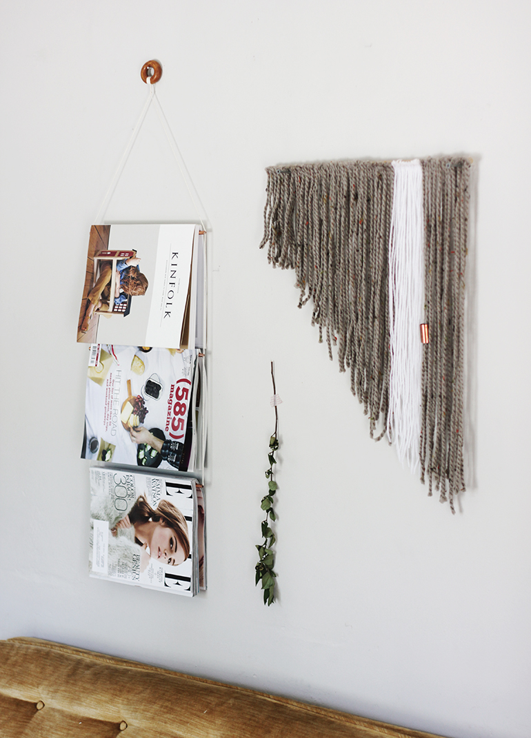 Diy copper magazine display the merrythought for Diy hanging picture display