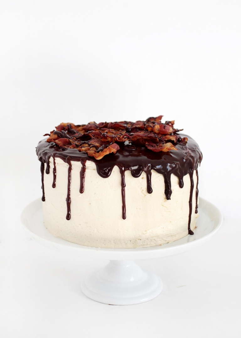 Excellent Maple Bacon Chocolate Cake The Merrythought Funny Birthday Cards Online Aboleapandamsfinfo