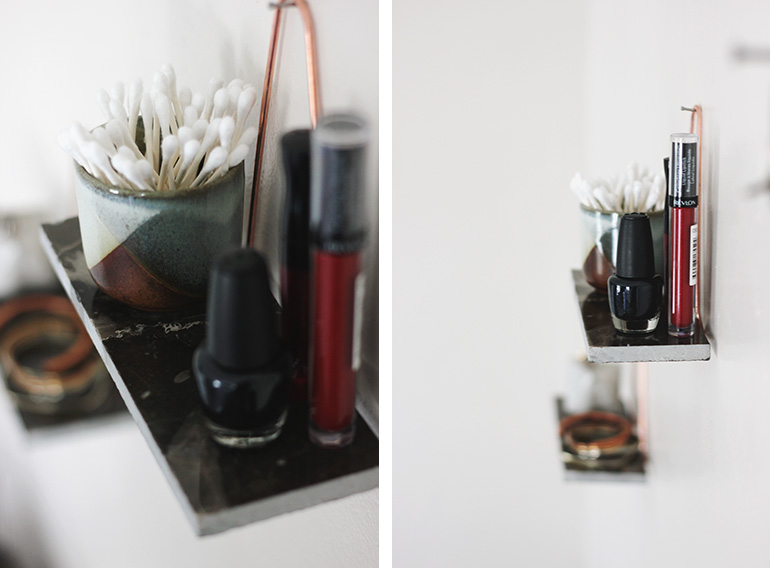 DIY Marble Shelf @themerrythought