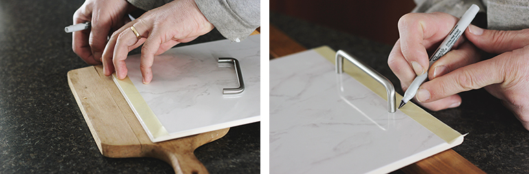 DIY Marble Serving Tray @themerrythought