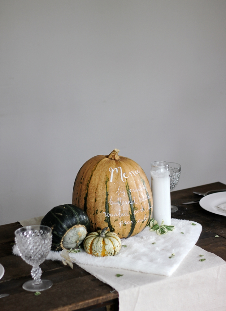 DIY Menu Pumpkin @themerrythought
