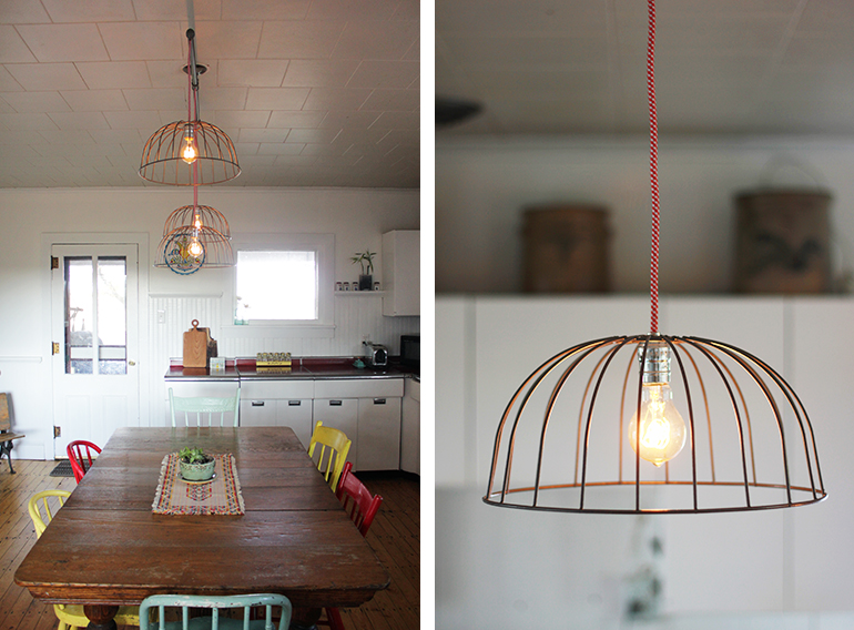 diy wire basket lights the merrythought rh themerrythought com Vintage Chicken Feeder Light Fixture Vintage Crab Trap Wire Light