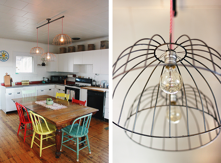 diy wire basket lights the merrythought rh themerrythought com Wiring a Light Fixture Multi Wiring Ceiling Light