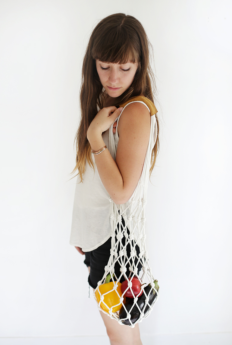 DIY Rope Market Bag @themerrythought