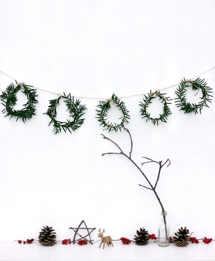 Mini Wreath Garland - @themerrythought