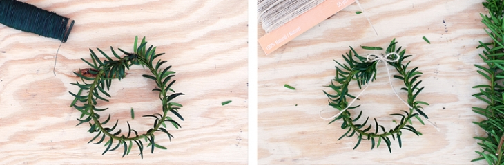 Mini Wreath Garland - How To @themerrythought
